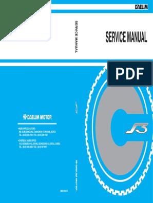 Daelim S3 125cc Service Manual - ENG | Motor Oil | on