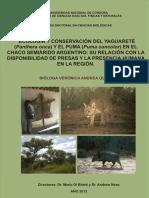 Tesis Doctoral Ver Nica Quiroga 2013 Jaguar y Puma en Chaco