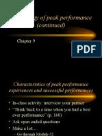 4 Peak Performance (Cont)