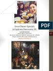 Great Dinner Specials in Gastown Vancouver British Columbia
