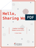Hello, Sharing World! Creative Commons Global Summit 2015 in Seoul, Korea (English)