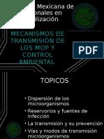 Mecanismos de Transmisión de Los Microorganismos y Control Ambiental
