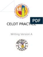 Celdt Practice-writing Version A