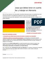 Infografiaa 30 Cosas Debes Tener Cuenta Si Quieres Estudiar Trabajar Alemania