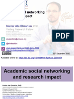 Academic social networking and research impact