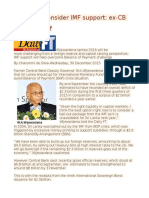 SL should consider IMF support