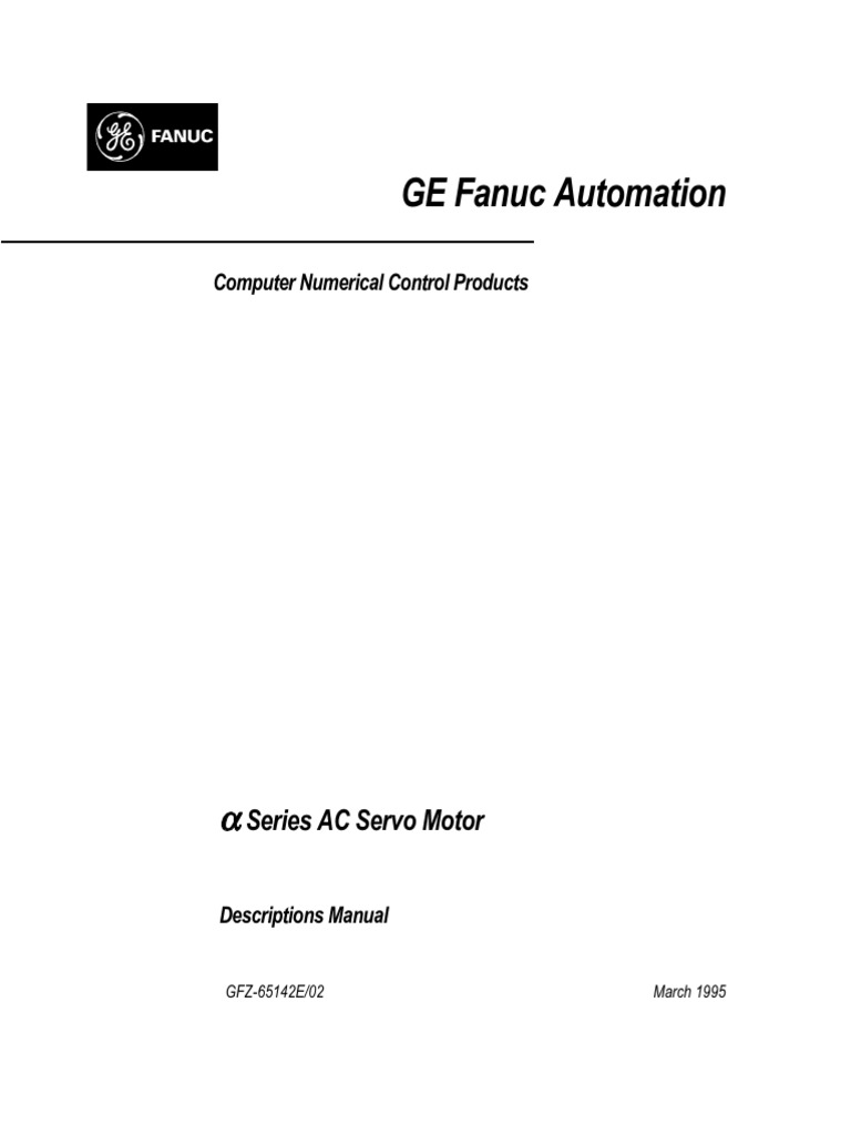 Fanuc AC Servo Motor Descriptions Manual | Belt (Mechanical) | Electrical  Connector