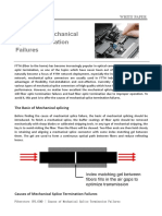 Causes of Mechanical Splice Termination Failures
