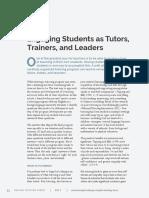 FORUM_engaged Students as Tutors