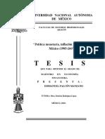 Politica Monetaria Inflacion y Desempleo en Mejico 1995 2007 (2)
