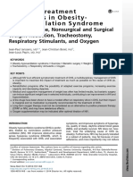 Non-PAP Treatment Modalities in Obesity-Hypoventilation Syndrome _Role of Exercise, Nonsurgical and Surgical Weight Reduction, Tracheostomy, Respiratory Stimulants, And Oxygen