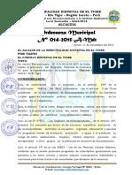 Ordenanza Municipal 014-2015 Saberes Productivos