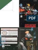 Killer Instinct Instruction Booklet for SNES (1995)