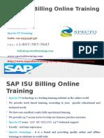 SAP ISU Billing Online Training in Uk