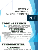 Manual of Professional Practice