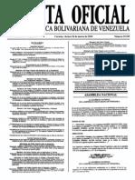 Sumario Gaceta Oficial 39.395