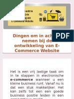 Dingen om in acht te nemen bij de ontwikkeling van E-Commerce Website