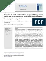 2008-Frecuencia de Uso de Escalas de Dolor, Incapacidad Fisica y Calidad de Vida en El Estudio de Lumbalgia Con Intervenciones Fisioterápicas