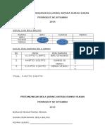 Jadual Pertandingan Bola Jaring Antara Rumah Sukan