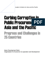 Curbing Corruption in Public Procurement in Asia and the Pacific