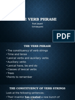 the verb phrase