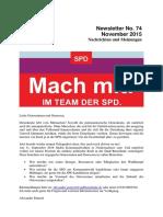 November 2015 (Newsletter Nr. 74)