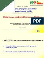 Optimizarea protecției termice a clădirilor