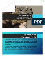 Subgrade Evaluation