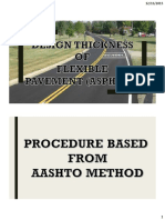 Design Thickness for Flexible Pavement