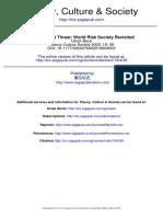 Beck - The Terrorist Threat - World Risk Society Revisited