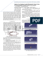 Static and Thermal Analysis of an Spring Loaded Hydraulic Check Valve