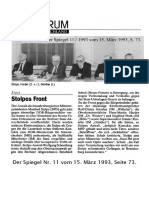 1993-03 Reinhard Schult zu Stolpe im Spiegel