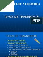 Tipos de Transporte logistica