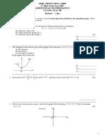 1st Mid-term Test (Add Maths f4)