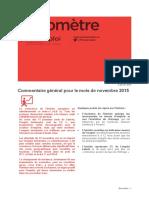 Baromètre Franche-Comté Novembre 2015