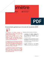 Baromètre Lorraine Novembre 2015