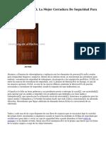 VAN LOCK De VIRO, La Mejor Cerradura De Seguridad Para Furgonetas