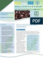 La FAO et le Programme de Développement pour l'après-2015 Rapports thématiques