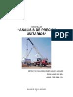 Manual Análisis de Precios Unitarios