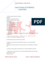Important Points of General Anatomy by Medical Study Center[Ussama Maqbool]