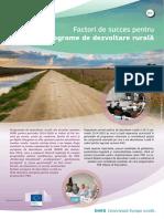 Factori de succes pentru noile programe de dezvoltare rurală