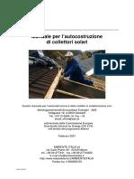 Manuale Autocostruzione Pannelli Solari