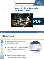 Clean Energy Policy Analysis With RETScreen