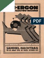 1929-12 - Tri-Ergon Nachtrag April Bis Dezember 1929
