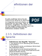 4. Definitonen Der Sprache.ppt; Die Drei Ebenen Der Sprache