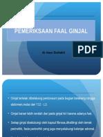 Pemeriksaan Faal Ginjal (Ureum, Creatinin)