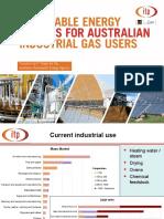 Renewable Energy Options for Australian Industrial Gas Users