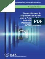 Recomendaciones de Seguridad Nuclear Sobre Protección Física de Los Materiales Nucleares y Las Instalaciones Nucleares