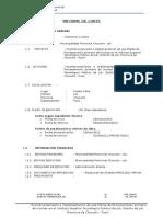 Informe de Corte de Obra