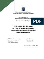 Il Fiore Perduto. La cultura del Papaver somniferum nell'area del Mediterraneo